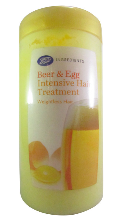 Boots Beer & Egg Intensive Hair Treatment (Front)