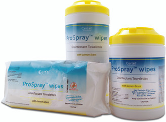 "ProSpray Wipes 6 x 6-3/4""-240 cannister. Used in our chair side units"