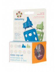 Lifefactory Sippy Cap Set 2-pack (ocean/spring green)