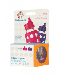 Lifefactory Sippy Cap Set 2-pack (raspberry/royal purple)