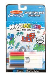 Melissa & Doug On The Go Magicolor Color-Your-Own Sticker Book - Blue