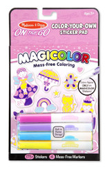 Melissa & Doug On The Go Magicolor Color-Your-Own Sticker Book - Pink