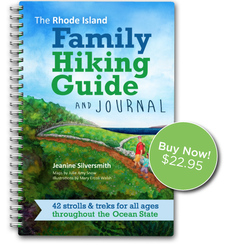 Whether you are experienced hikers or totally new to the trails, The Rhode Island Family Hiking Guide and Journal has everything you need to help you prepare for and enjoy exploring the great outdoors with children of all ages and abilities.  The 42 family-friendly hikes include short, stroller-friendly walks as well as longer, more rugged excursions throughout Rhode Island. Each hike description includes essential and helpful information, a detailed map, and driving directions, as well as journal pages for your family to use to reflect upon and document your experiences.