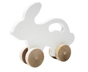 Wooden Bunny Push Toy