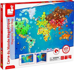 Janod Magnetic Animals World Map