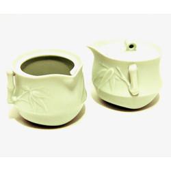 Bamboo Teapot and Serve Pot