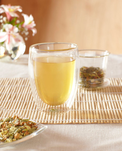 Glass Double Lined Steeping Cup - Glass Steeping Basket