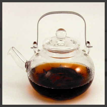 Glass Teapot with Metal Handle - Large
