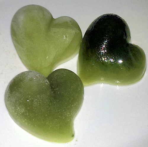 Matcha frozen hearts created using water or coconut milk or both then poured in silicon molds are a super easy elegant dessert!