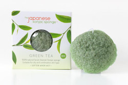 Japanese Konjac Sponge - Green Tea