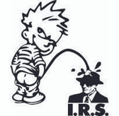 Calvin Pee On The Irs Sticker