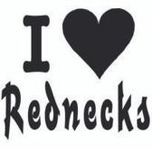 I Heart Rednecks Sticker