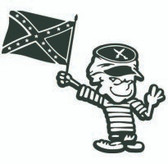 Calvin Rebel Flag Sticker