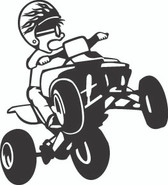 ATV Rider Sticker