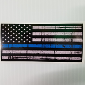 Thin Blue Line Decal USA
