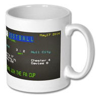 Arsenal 3 Hull 2 2014 FA Cup Final Ceefax mug