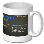 Arsenal 2 Man United 6 Ceefax Mug