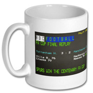 Spurs 3 Man City 2 FA Cup Final Replay Ceefax Mug