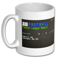 Everton 3 -Liverpool 0 Ceefax Mug - Tony Bellew's Choice