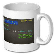 Cambridge United 0 - Cardiff City 0 Ceefax  Mug