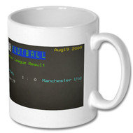 Burnley 1 Manchester United 0 Ceefax Mug