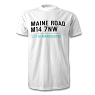 Manchester City Road Sign T-Shirt - Maine Road