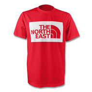 North East T-Shirt in Boro Red and White - Free UK Delivery