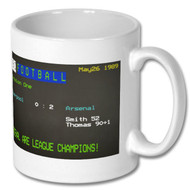 Liverpool 0 Arsenal 2 1989 Ceefax Mug - Lee Dixon's Choice