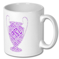 Aston Villa European Cup Word Cloud Mug - Free UK Delivery