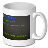 Leicester City PL Survival Ceefax Mug -  Free UK Delivery