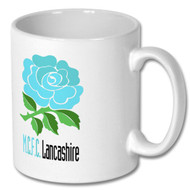 Sky Blue MCFC and Lancashire Rose Mug - Free UK Delivery