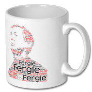 Sir Alex Ferguson - Word Cloud - Mug - Free UK Delivery