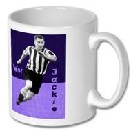 Wor Jackie Milburn Full Colour Mug - Free UK Delivery