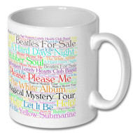 Beatles Album Word Cloud Mug - Free UK Delivery