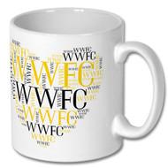WWFC Valentines Heart Mug and Coaster Set - Free UK Delivery