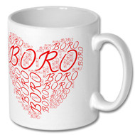 Boro Valentines Heart Mug and Coaster Set - Free UK Delivery