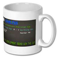 Lewes FC Dev Squad Cup Win Ceefax Mug - Free UK Delivery