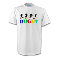 Rugby Rainbow T-Shirt - Free UK Delivery