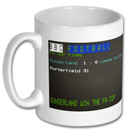 Sunderland 1973 FA Cup Final Win Ceefax Mug - Free UK Delivery