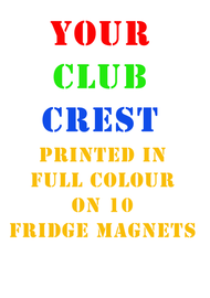 10 Club Fridge Magnets - Free UK Delivery