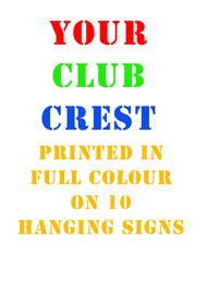 10 Club Car Hanging Signs - Free UK Delivery