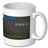 Man United 1985 FA Cup Win - Ceefax Mug Free UK Delivery
