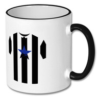 NUFC Retro Shirt Black & White Mug - Free UK Delivery