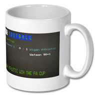 Wigan Athletic FA Cup Win Ceefax Mug - Free UK Delivery