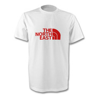 North East T-Shirt in red and white  -Free UK Delivery