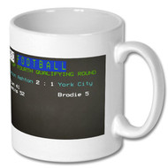 Curzon Ashton Beat York City FA Cup Ceefax Mug - Free UK Delivery