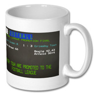 Grimsby Town Promotion Final Ceefax Mug