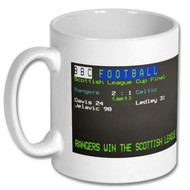 Rangers League Cup Win Ceefax Mug- Free UK Delivery