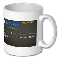 West Ham United 3 Man United 2 Ceefax Mug
