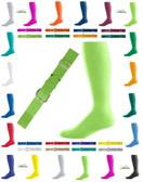 Neon Lime Green Baseball Sock and Baseball Belt Combo Set